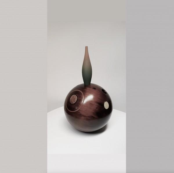 Madeira, pedra, resina, acrílico 41X22cm [ECU075]