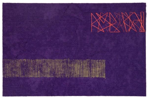 Costura sobre shantung de seda artesanal feltrado a seco 30X46,5cm [VFI006]