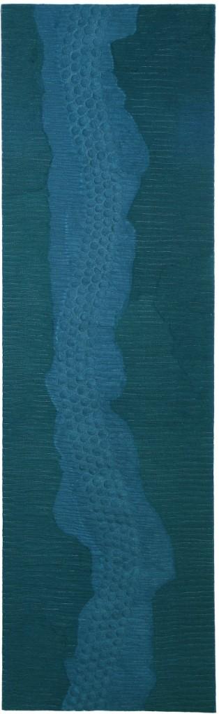 Costura sobre cetim toque de seda e nylon feltrados a seco 163X48cm [VFI007]